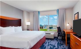 Marriott Indy Place Fairfield King Guest Room
