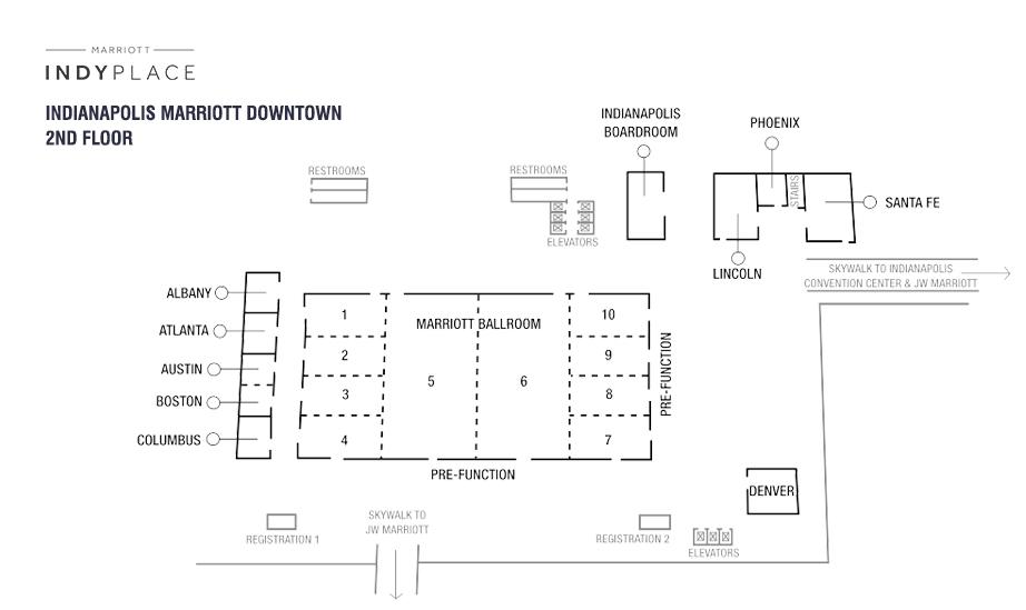Indianapolis Marriott Downtown Second Floor